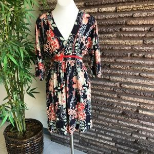 Lucky Brand Boho Floral Empire Waist Dress
